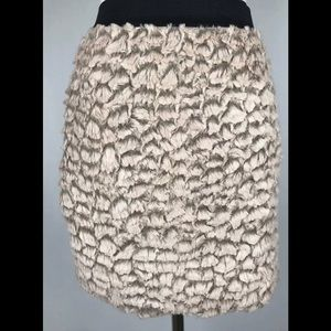 Urban outfitters silence+noise skirt faux feathers